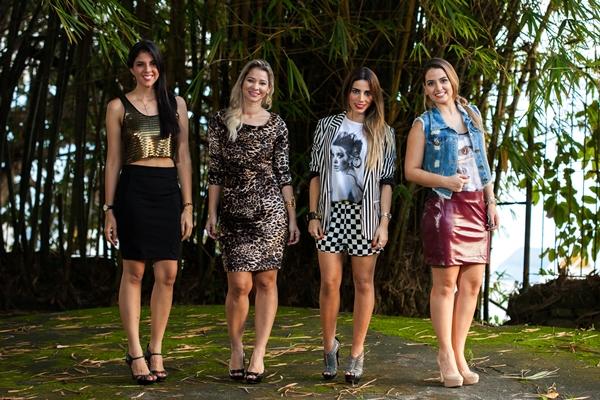 Com Lu Cordeiro, Luana Carvalho e Thicy Medeiros